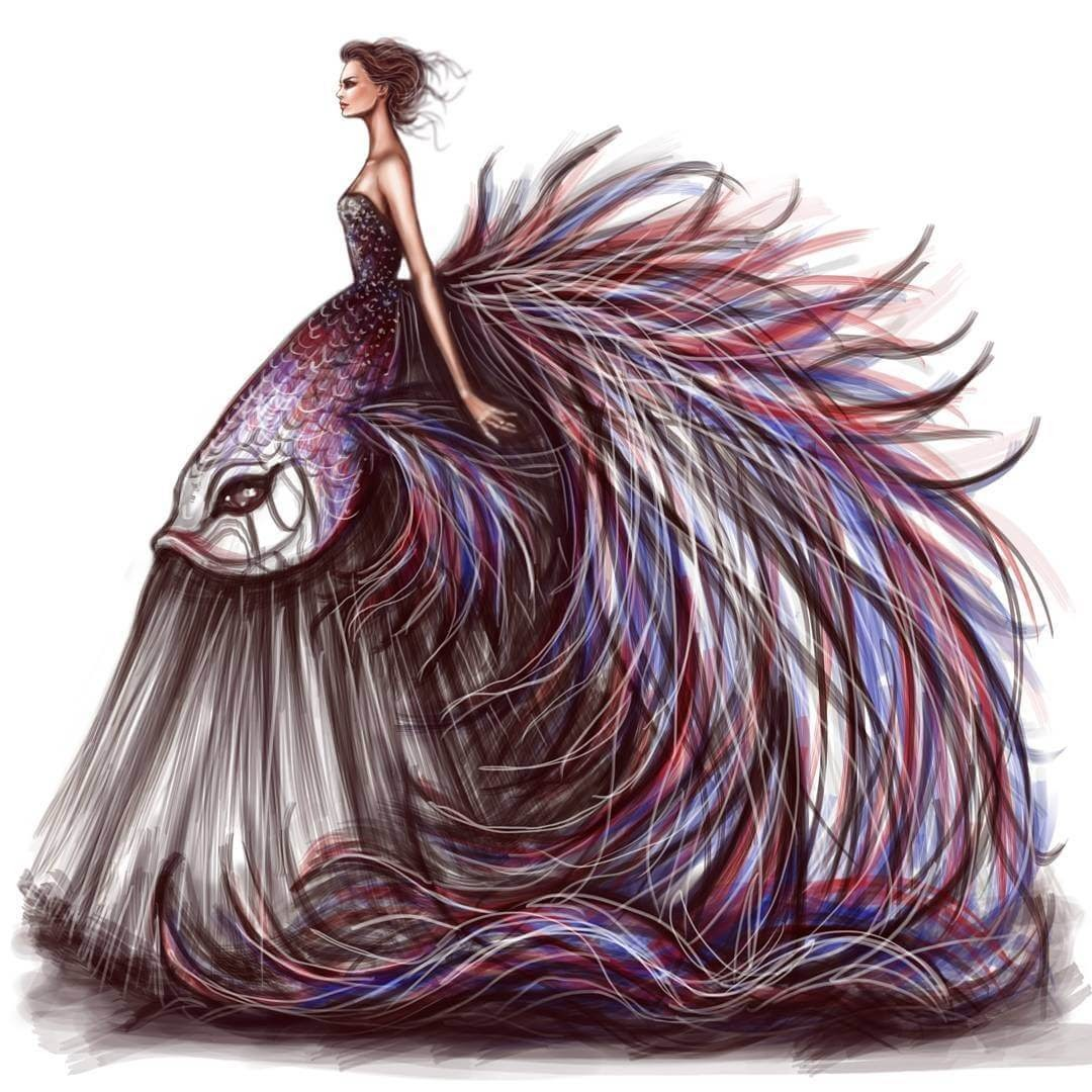 02-Couture-week-Shamekh-Bluwi-Haute-Couture-Exquisite-Fashion-Drawings-www-designstack-co