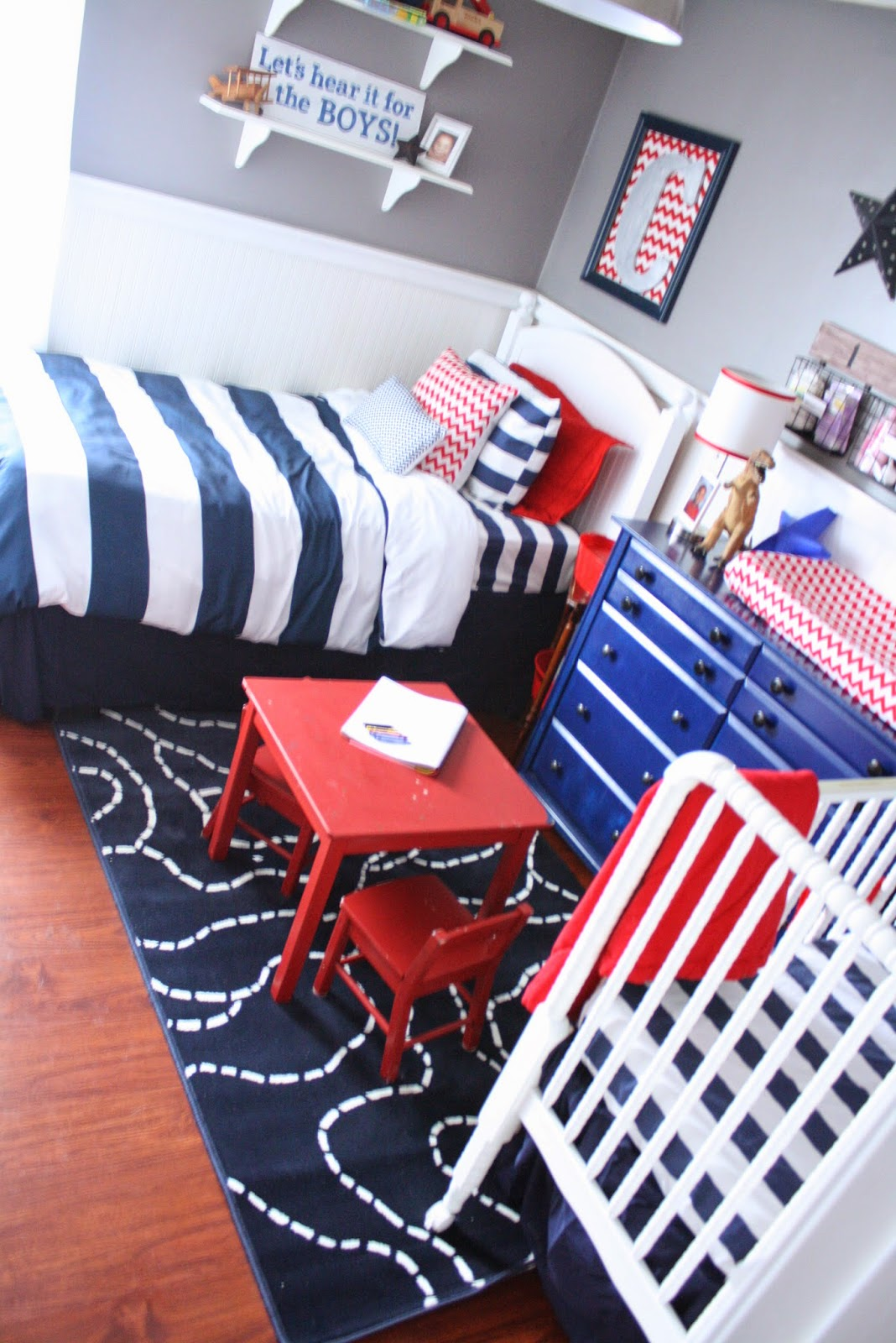 Shared Boys' Room/Nursery reveal