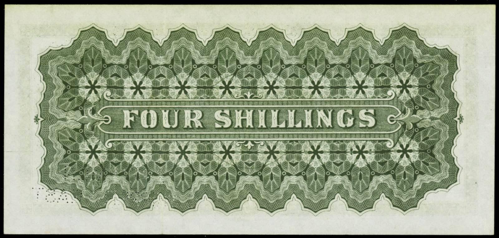 Bahamas 4 Shillings banknote Bank of Nassau