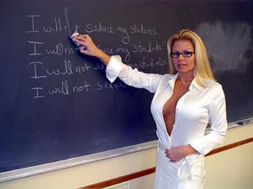 Seductive lesbian tutor seduces and bangs her kinky student 6