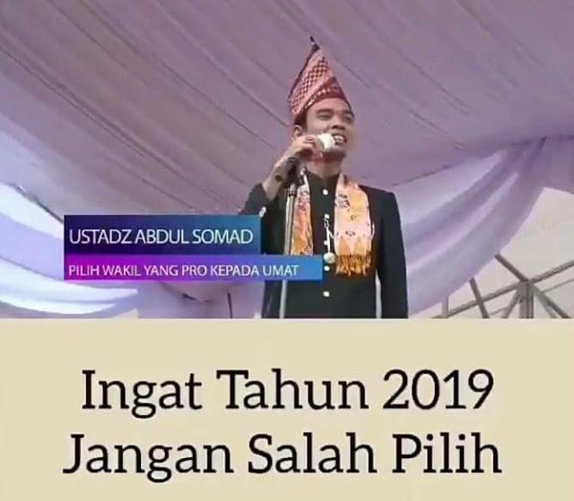 Ustadz Abdul Somad Tak Perlu Menyebut Partai atau Calon, Pesannya Sudah Sangat Jelas di 2019