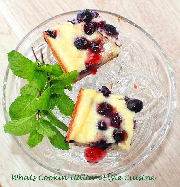 blueberries sour cream and cream cheese bars that are so creamy and delicious they are the best quick and easy dessert  all made in this one pan