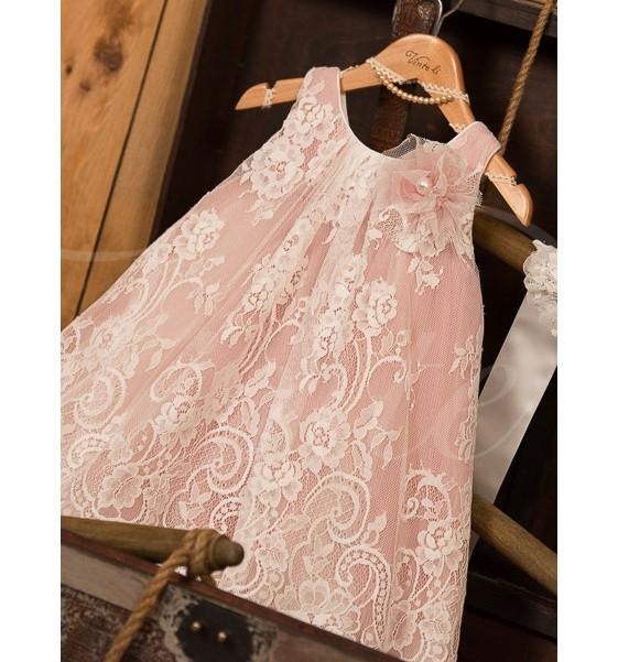 ροζ βαπτιστικά φορέματα