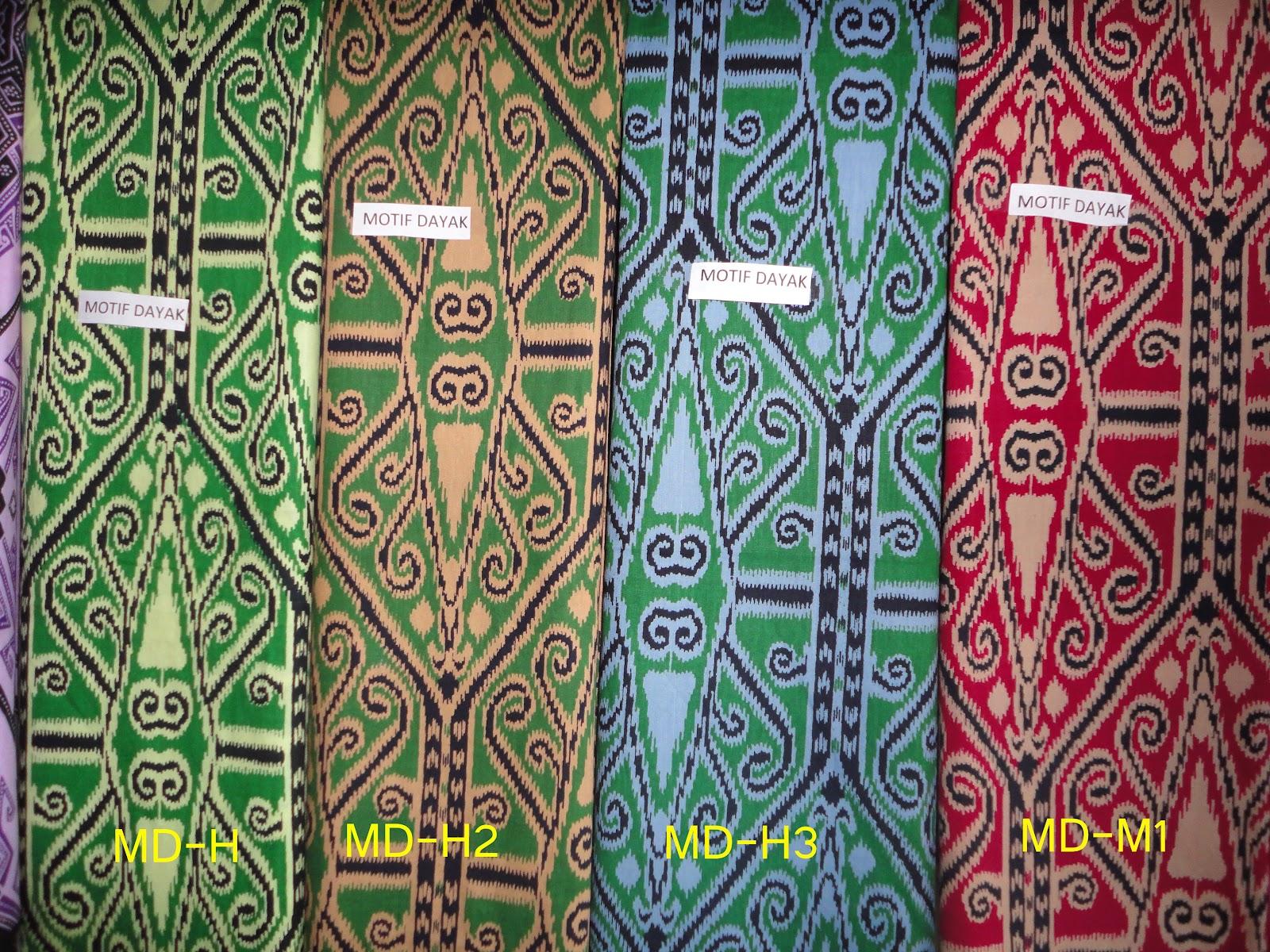 Batik Motif Dayak Khas Kalimantan  BATIK MOTIF DAYAK BAHAN KATUN