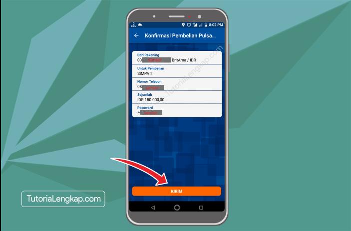 Tutorialengkap 6 Cara Membeli Pulsa Online Melalui BRI Mobile Banking di hape Android