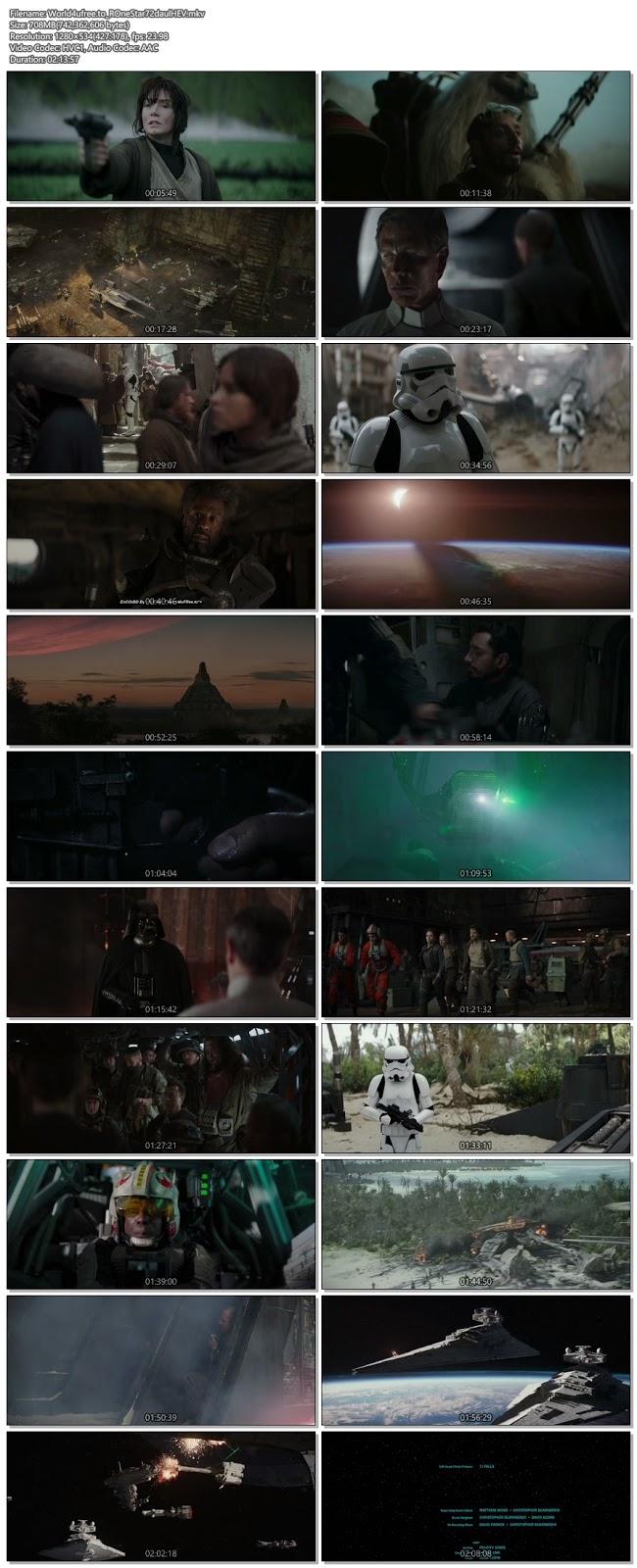 Rogue One A Star Wars Story 2018 Daul Audio 720p BRRip 700Mb HEVC x265