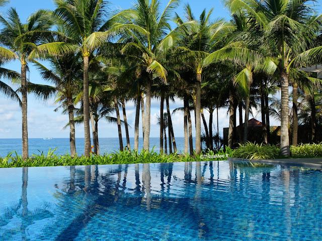 salinda resort piscine debordement plage paradis
