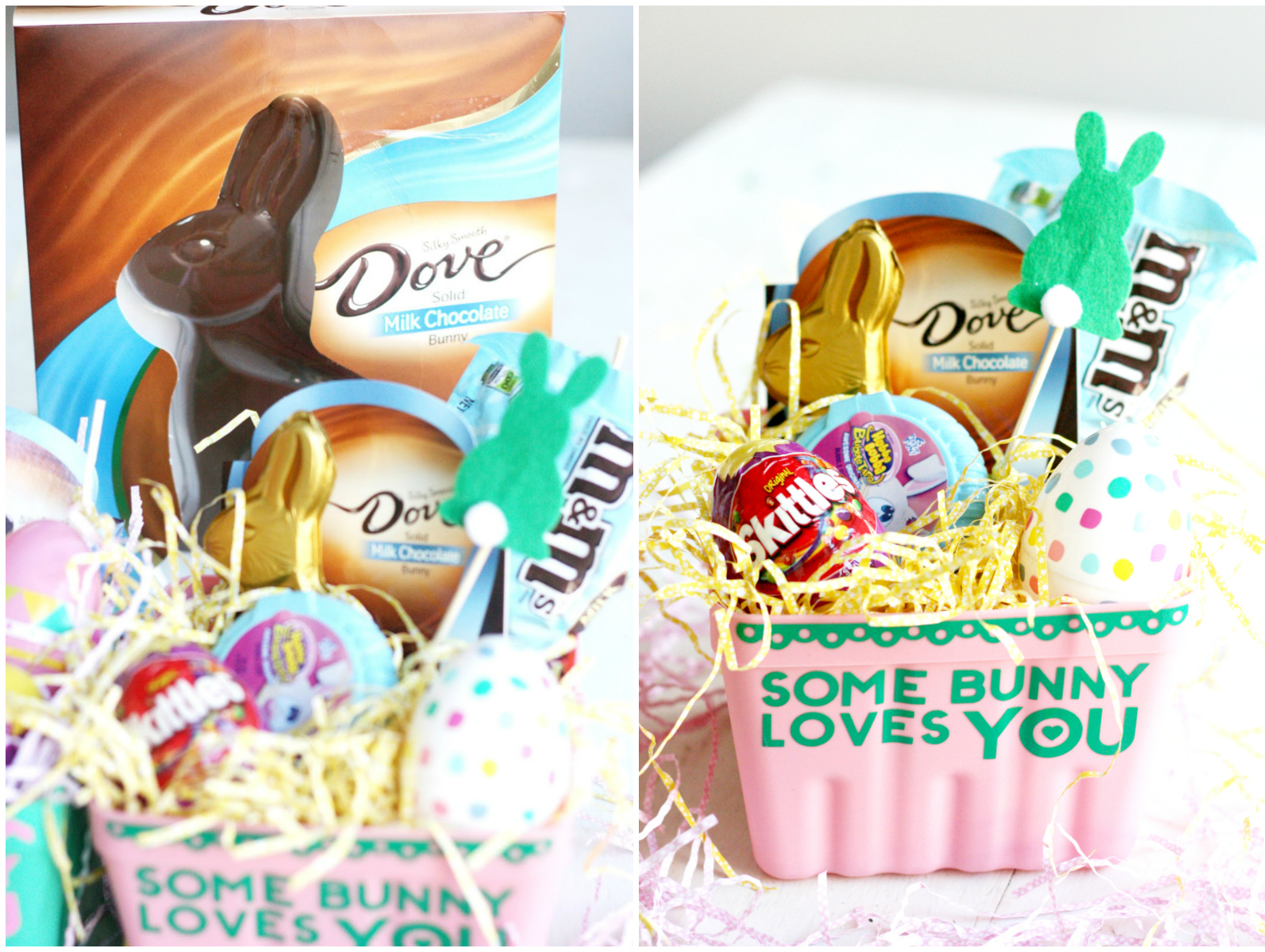Diy some bunny loves you easter baskets the pretty life girls looking for more easter basket inspiration be sure to visit walmart and my confection corner for everything you need to make the perfect easter basket negle Images