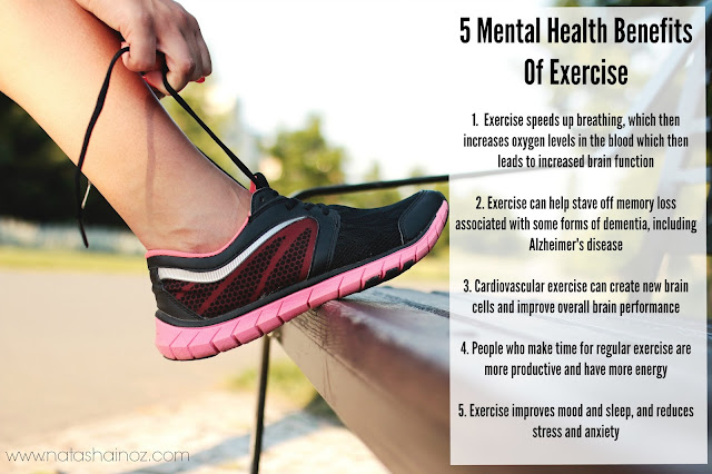 #MentalHealth Benefits Of #Exercise via www.natashainoz.com