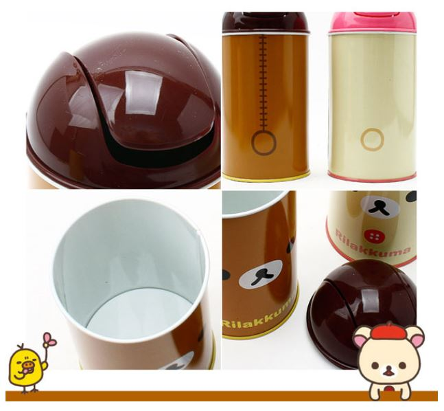 Rilakkuma Mini Trash Can Cute Small Waste Basket Interior Kids Living Bath Room Ebay