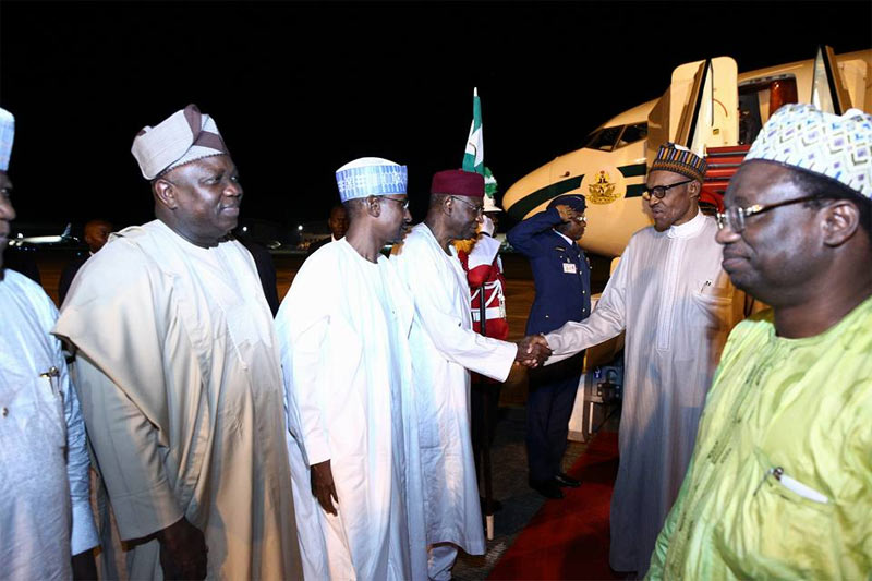 See how president Buhari arrived Nigeria after UN General Assembly in New York