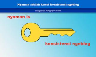Nyaman adalah kunci konsistensi ngeblog