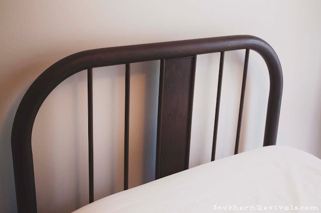 How-to Build a Frame for an Antique Metal Bed and Seal in a Rusty Patina