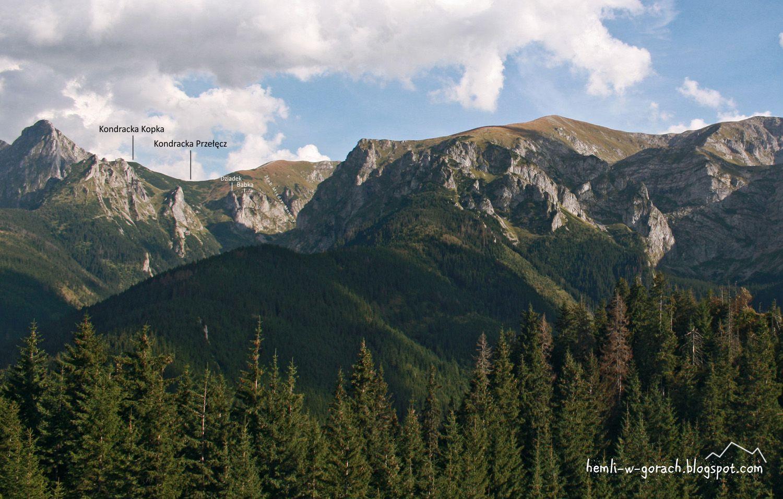 Widok na Kondracką Przełęcz