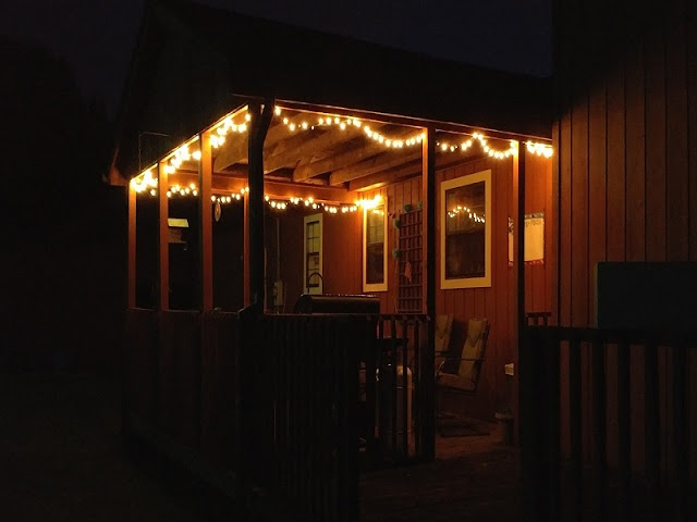 deck lights at party #summer
