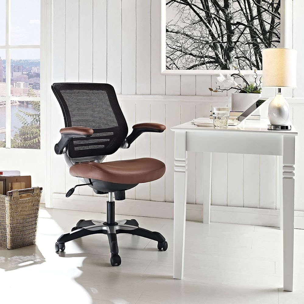 brown-pleather-and-mesh-office-chairs
