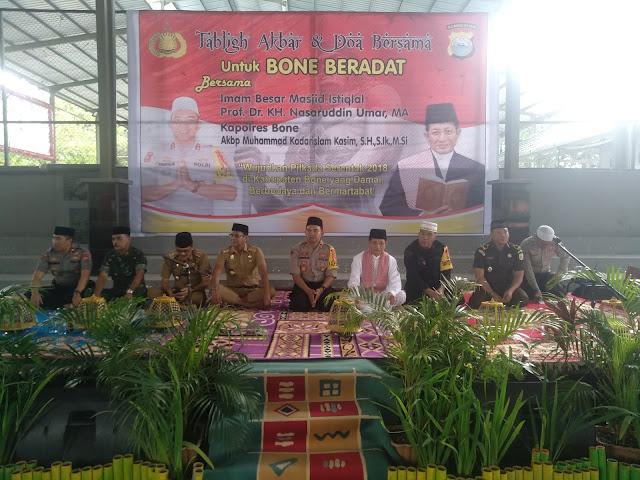 Kapolres Bone Hadirkan Imam Besar Mesjid Istiqlal Jakarta di Lapangan Basket Bone, Ini Tujuannya