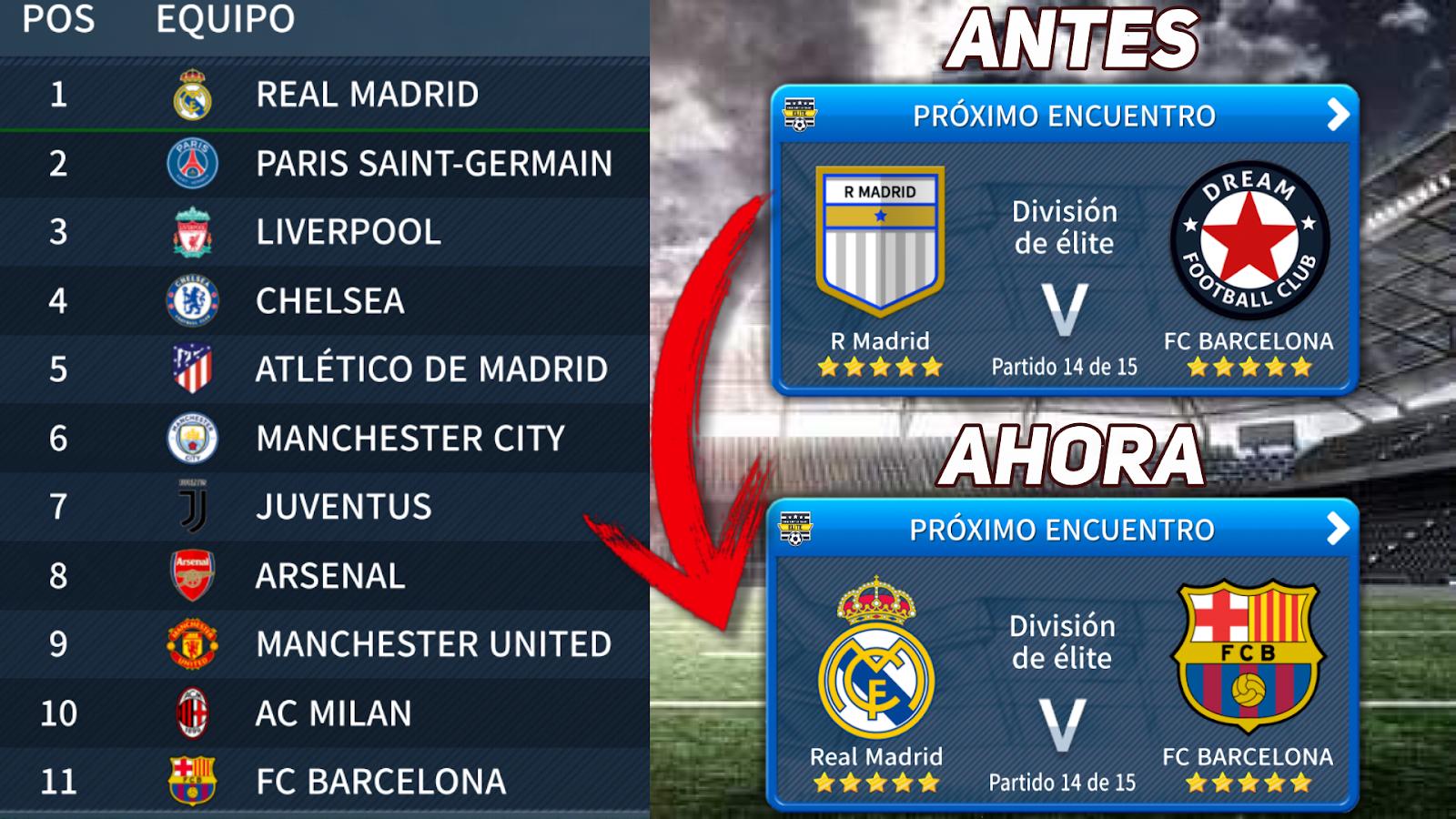 Licencias Reales En Dream League Soccer 2019 Escudos Y Nombres De Todos Los Equipos