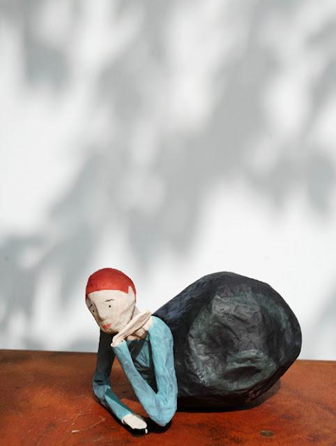 Papier à êtres : Homme escargot , Exposition « d'Inspiration Jérôme Bosch », Galerie de la Marraine