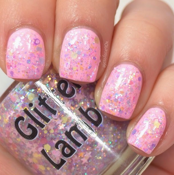 Candy Lip Balm Glitter Lambs Nail Polish Swatch by JessFace90x