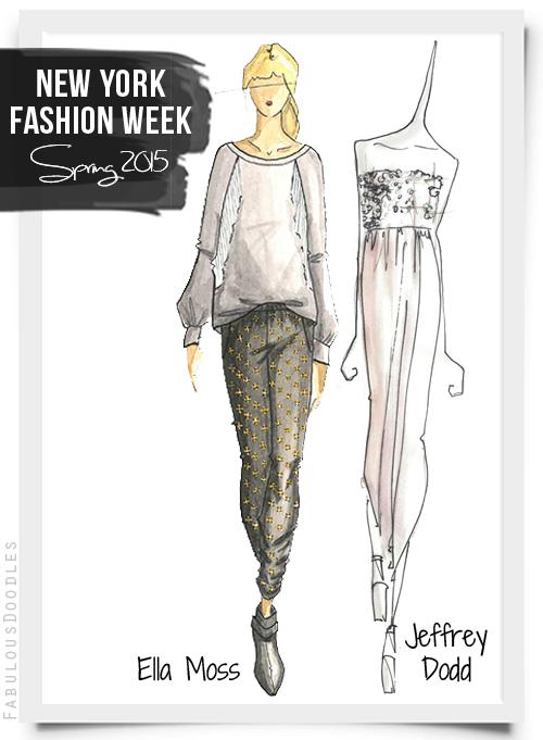 Fabulous Doodles Fashion Illustration Blog By Brooke Hagel Nyfw Designer Sketches Spring 2015 Part 2