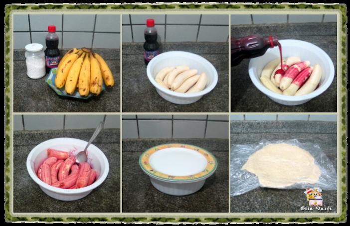 Torta de banana com groselha 3
