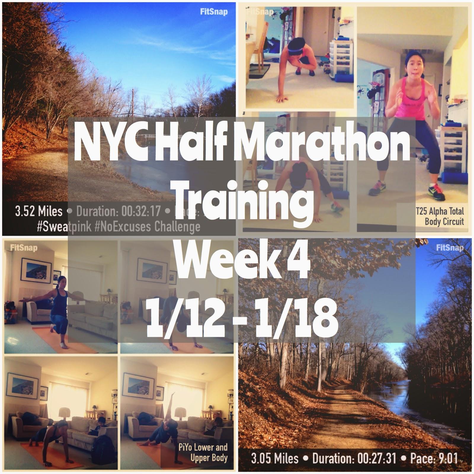 Run-Hike-Play: NYC Half Marathon Training Week 4: 1/12-1/18