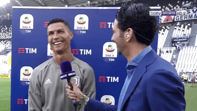 La réaction de Ronaldo quand on lui dit que son fils a marqué plus que lui