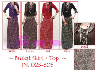 Brukat Skirt + Top fit to L
