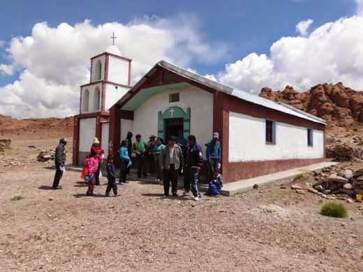 Die neu errichtete Kapelle in Rio Chilenas