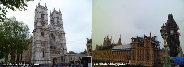 Viaje a Londres: Abadía de Westminster, Parlamento y Big Ben (lo que se veía)