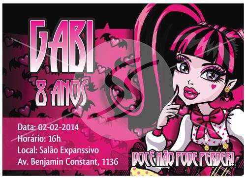 convites aniversario infantil monster high 01 - Convites de Aniversário da Monster High