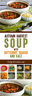 Autumn Harvest Soup with Butternut Squash and Kale found on KalynsKitchen.com