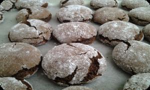 Thajské čokokávové sušienky