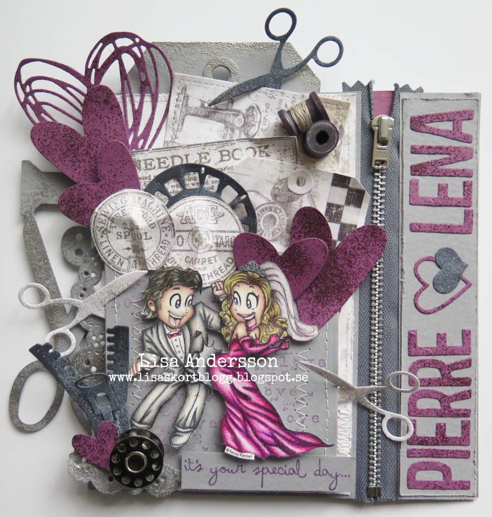 Lisa Andersson Wedding Card Using Wedding Dance From Kennyk Stamps