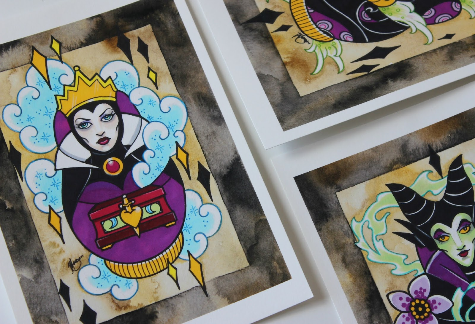 A picture of Disney Inspired Matryoshka Villains by Vicky Morgan