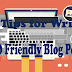 10 Tips for Write SEO Friendly Blog post- Hindi