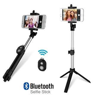 braccio per selfie telescopico con telecomando