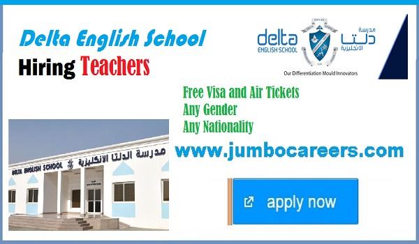 CBSE School in Sharjah Hiring Teachers at Delta English School (DES)