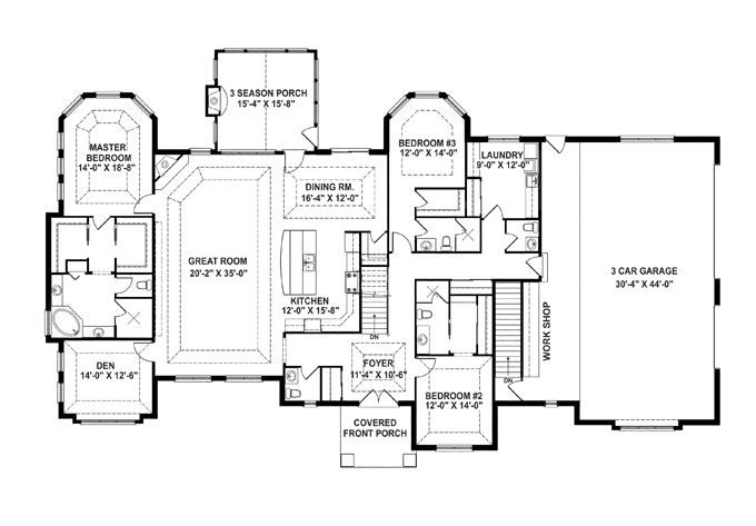 open floor plans with laundry room - Open Floor Plans