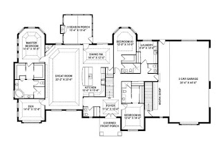 Open floor plans with laundry room