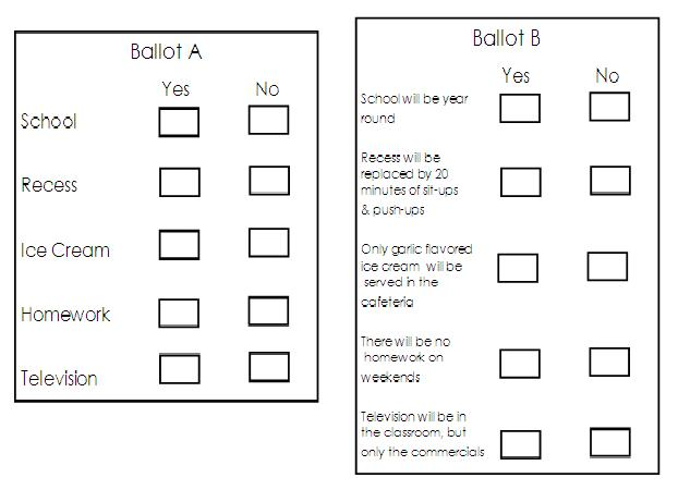 Adventures in third grade election time for Election ballots template