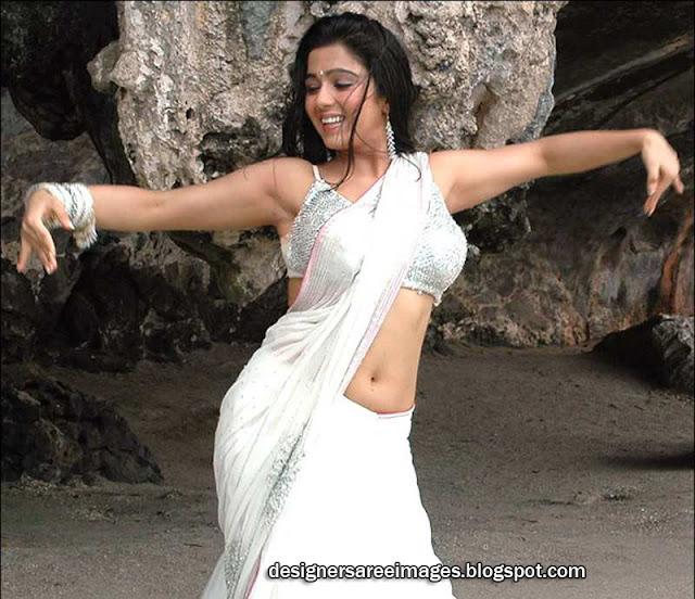 OnLy AcTrEsS: Charmi Kaur Navel Show White Saree