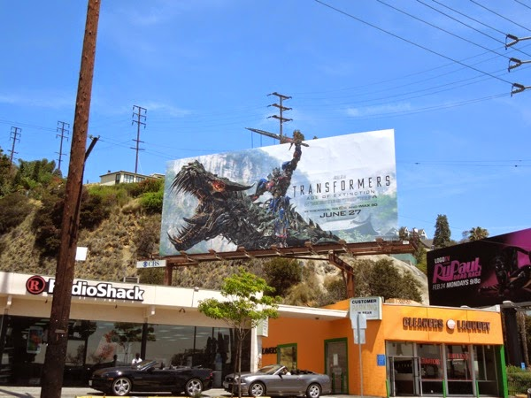 Transformers Age of Extinction billboard Sunset Strip