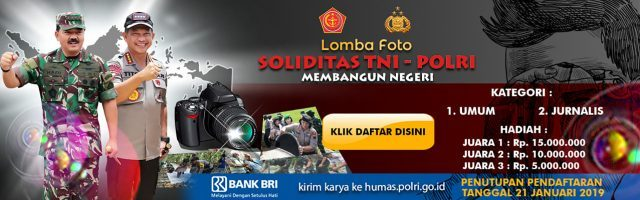 Lomba Foto Soliditas TNI-POLRI 2019 Berhadiah Puluhan Juta Rupiah