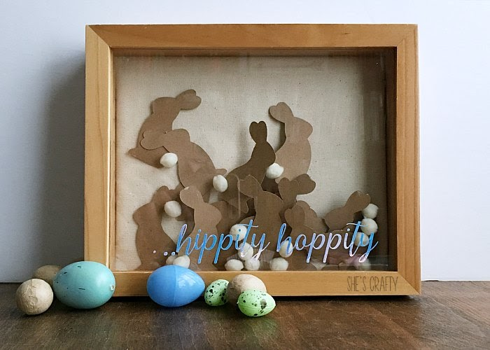 Easter bunny home decor, vinyl art, die cut