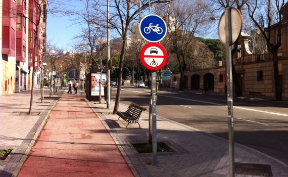 Los ciclistas no queremos 'piruletas azules'