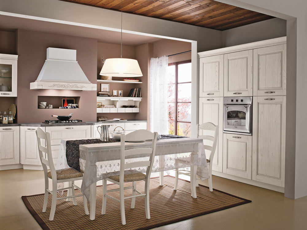 La cucina di oggi bella e pratica shabby chic interiors - Cucine e salotti insieme ...