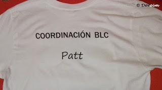 Camiseta de coordinadora de la BLC 2017