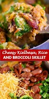 #recipe #food #drink #delicious #family #Cheesy #Kielbasa, #Rice #and #Broccoli #Skillet